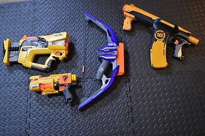 NERF GUN JOB LOT, STRONGARM, SHARPSHOT, Small gun