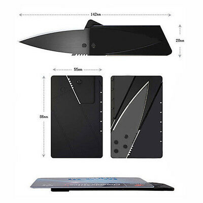 Strong Steel Outdoor Credit Card Thin Cardsharp Folding Pocket Knife Camping Hot