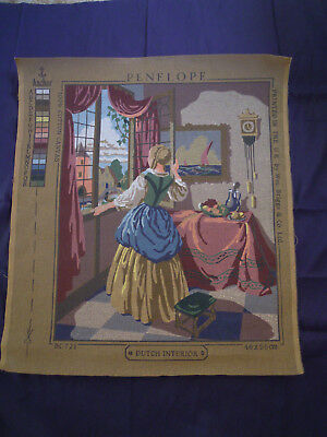 Dutch Interior - Vintage Tapestry Canvas by Penelope #BC 721