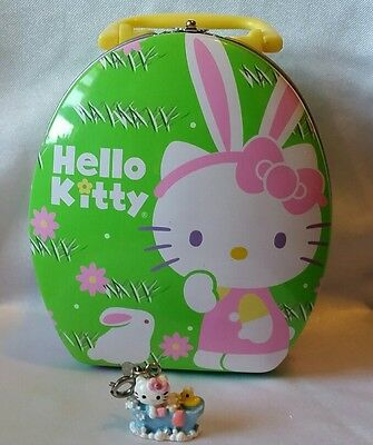 Charm It Hello Kitty Bath Tub Bracelet Or Necklace Charm & Bunny Tin Trinket Box