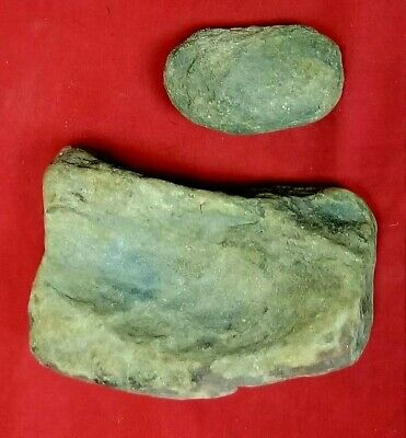Indian Paleo Grinding Stone Tool Metate Mortar Pestle Mano Arrowhead Artifact