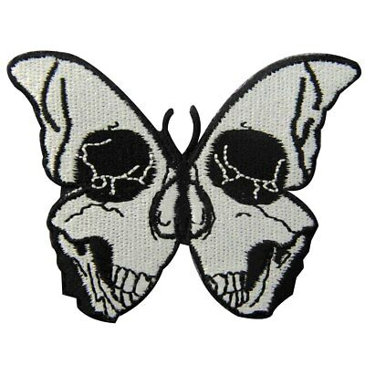 Embroidered patches Appliques Sew Iron on patch Back Punk Rock Biker Butterfly
