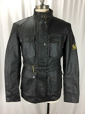 Belstaff Gold Label Mens Size Large Lined Full Zip Motorcycle Jacket 2007 Waxed