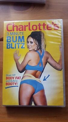 Charlotte's Crosby 3 Minute Bum Blitz DVD 2015 Keep Fit Exerrcise New