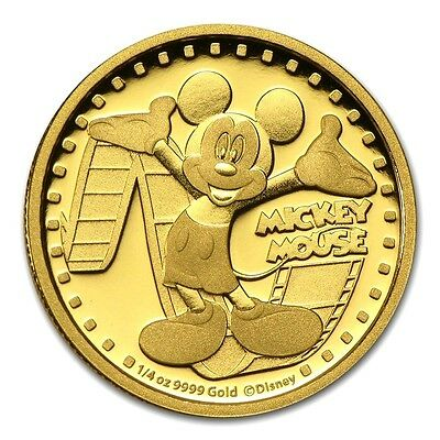 Mickey Mouse Medallion in 24K 999 GOLD FINISHED