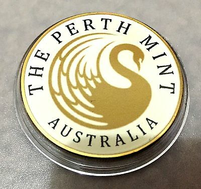 1 oz Perth Mint Australia Finished in 999 24K Gold Coin