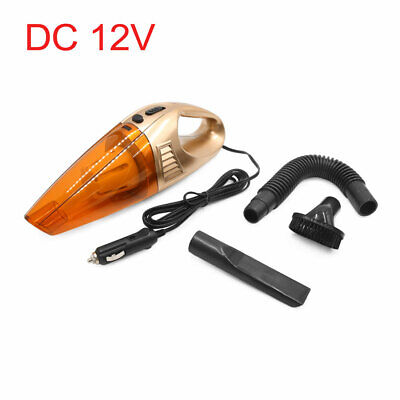 12V Portable Handheld Wet Dry Vacuum Cleaner Dust Duster Gold Tone for Car Auto