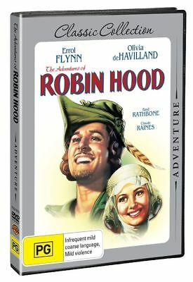 The Adventures of Robin Hood (DVD, 2015) R-4, NEW AND SEALED, FREE POST AUS-WIDE