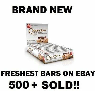 Quest Bar Chocolate Chip Cookie Dough - New Boxes Quest Nutrition (12 Bars)