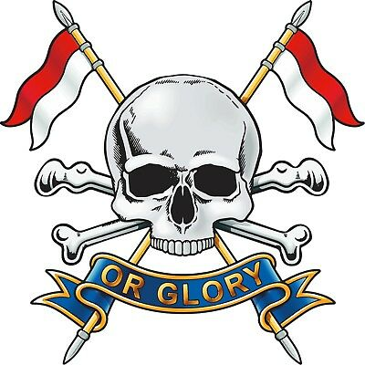 Royal Lancers ( Death or Glory ) Vinyl Decal / Sticker (10cm x 10cm) - Military