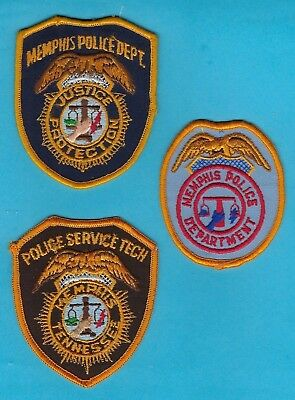 Memphis Police Department Patch Set A ~ Old Patches From A Private Collection