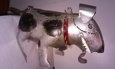 Metal Dog Sculpture Tea Light Holders Spike Punk Rebel Sculpture Art