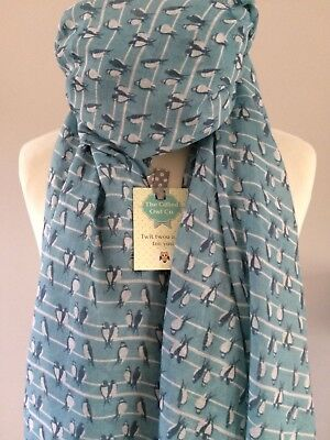 OFFER SWEET SWALLOWS STONE BIRDS ON WIRE SCARF  BIRD