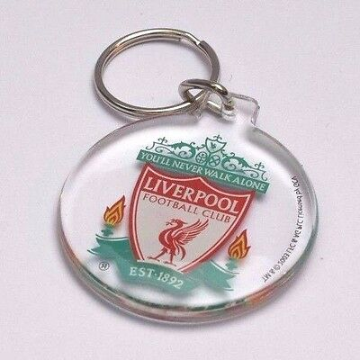 Liverpool FC Football Club Crest Round Plastic Clear Key Ring Keyring Fan Gift