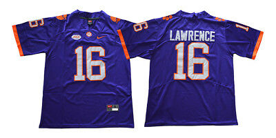 a7fe286dc64 Trevor Lawrence Jersey 16 Clemson Tigers Jersey College Sewn football jersey