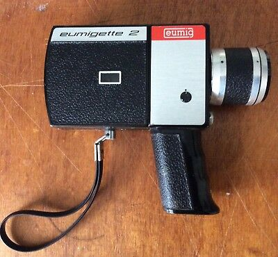 Eumig Eumigette 2 Super 8 Handheld Movie Camera With Instructions & Case Zoom