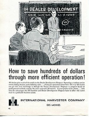 1965 Print Ad of International Harvester IH Tractor Dealer Development Program
