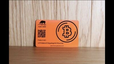 Bitcoin Wallet Card Encrypted With Bip38 Key and password, Free P&P . Crypto