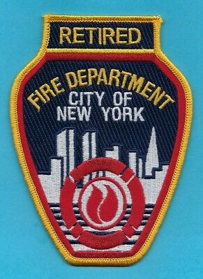 New York City Fire Department Retired Firefighter Patch ~ Awesome ~ L@@K
