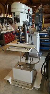 "22"" 12 Speed Industrial Drill Press With Coolant Tank (Obo)"