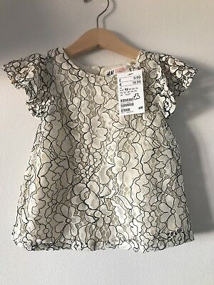 H&M Baby Girls Lace Top 1.5-2yrs BNWT