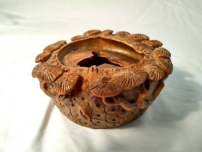 Antique Chinese Bamboo Hand Carved Brush Washer