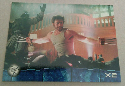 X-Men 2 Movie Trading Card. (Topps 2003) Promo P1  WOLVERINE
