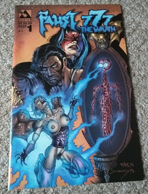 FAUST 777: THE WRATH # 1 (1999)  Avatar Press NM condition  (Nude cover)