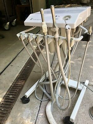 Dentech CT520A Dental Mobile Delivery Cart w/ 6 Handpiece Connections Adec