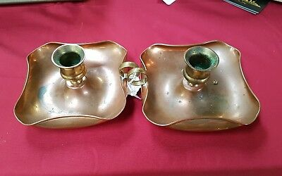 Newlyn (?) Arts & Crafts Movement Copper Candle Holder / Candlestick