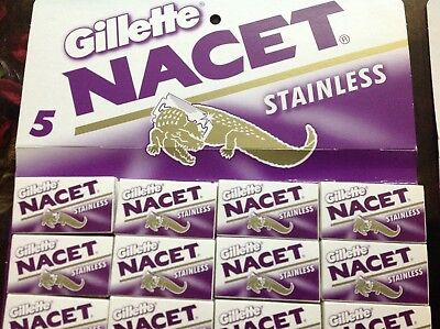 100 blades Gillette NACET new STAINLESS double edge razor blade high quality