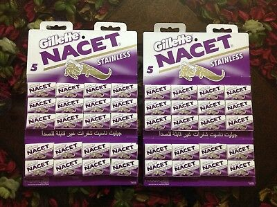 500 blades Gillette NACET new STAINLESS double edge razor blade high quality