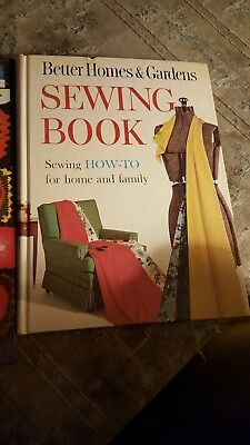 "VINTAGE ""BETTER HOMES & GARDEN SEWING BOOK"" and a Crocheting & Knitting book."