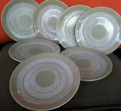 crown lynn EGMONT pattern no 126 Side plates x 7 new Zealand  collectible
