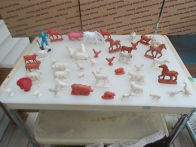 Vintage Lot Of Toy Farm Animals