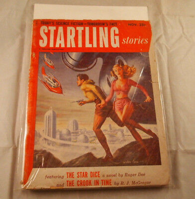 7) Pulp Fiction Sci Fi Magazine Vintage Lot 1940-1950s Amazing Stories Startling