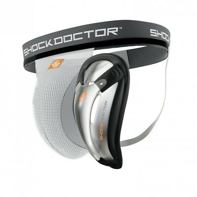 (Adult, X-Large, white) - Shock Doctor Supporter with Protective Cup Shorts