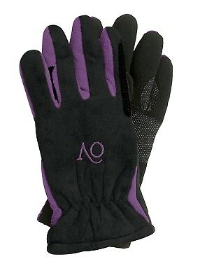 (Large, PurpleBlack) - Ovation Childs Polar Suede Fleece Gloves. Best Price