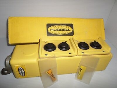 *New In Box* Hubbell Pbs4 4-Button Pendant Pushbutton Control Station