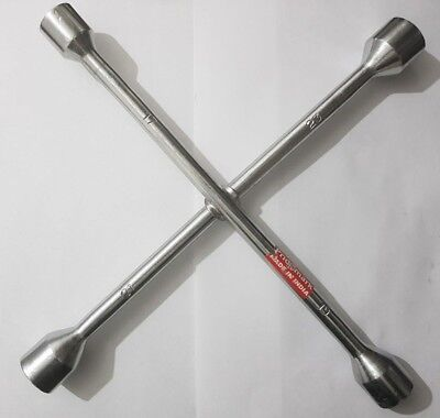 Cars Vans.Universal Spanner Socket Brace Cross Wheel Wrench Tool