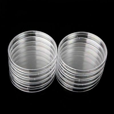 10X Sterile Petri Dishes Lids For Lab Plate Bacterial Yeast 55/60/70/90x15mm UB