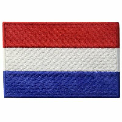 Iron on Sew On Patch Country Netherland Nation Flag Embroidered Patches Applique