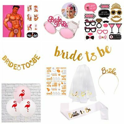 Bride To Be Balloons Hens Party Games Night Veil Badge Sash Lace Wedding Decor