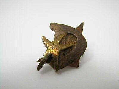 "Vintage Collectible Pin: Letter D ""D"" Starfish Triangle Design"