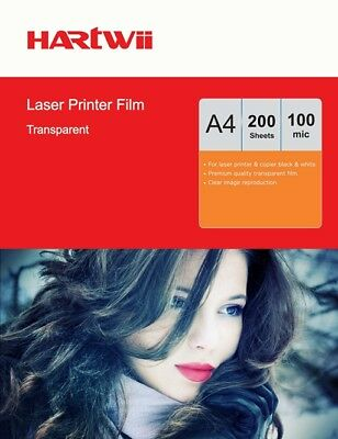 A4 Overhead Projector OHP Film Clear A4 For Laser Printerv - 200 Sheets Hartwii