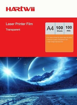 A4 OHP Film Clear Overhead Projector Film For Laser Printer - 100 Sheets Hartwii