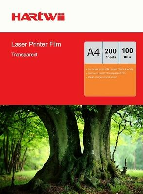 200 Sheets A4 Overhead Projector Film OHP Film Transparent For Laser Printing