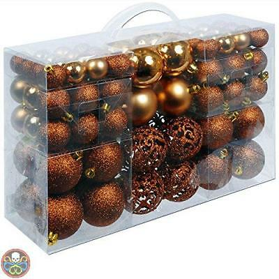 Unbekannt Tg: 100X Bronzo Christmas Gifts Palle Di Natale In Plastica Nuovo
