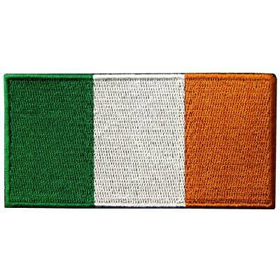 Iron on Sew On Patch Embroidered Patches Country Ireland Nation Flag BADGES