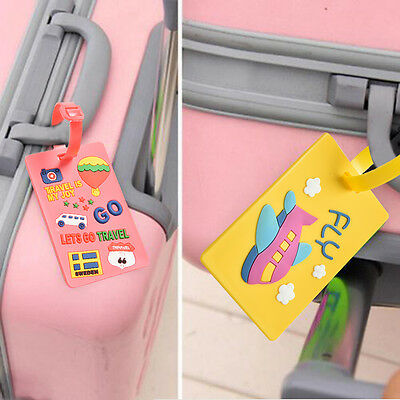 Cartoon Luggage Tags Strap Name Address ID Suitcase Baggage Travel Label Tag